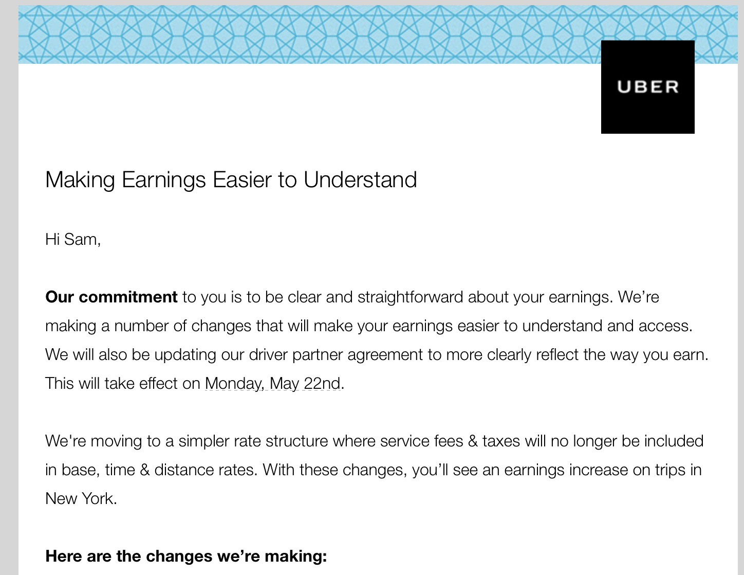 Uber responds to claims it charges what youre willing to pay uber sent the above email to drivers today to communicate this change ubers spokesperson also told us that any extra funds from this kind of differential platinumwayz