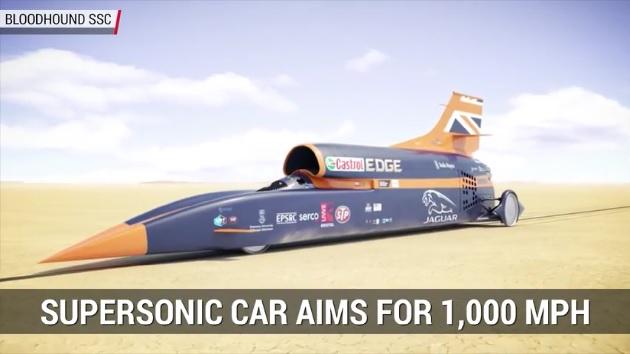 【ビデオ】超音速ロケット車「ブラッドハウンドSSC」、まずは来年10月に800mph(約1,287km/h)突破を目指す