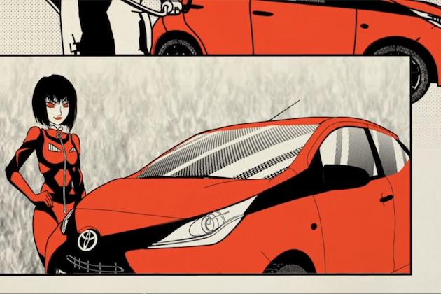【ビデオ】トヨタの小型車「アイゴ」が怪獣と対決する