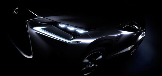 レクサスが北京モーターショーで公開予定の小型クロスオーバー「NX」の画像を公開