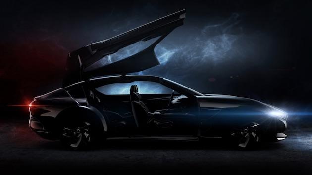 ピニンファリーナが巨大なガルウイング・ドアを持つコンセプトカーをチラ見せ