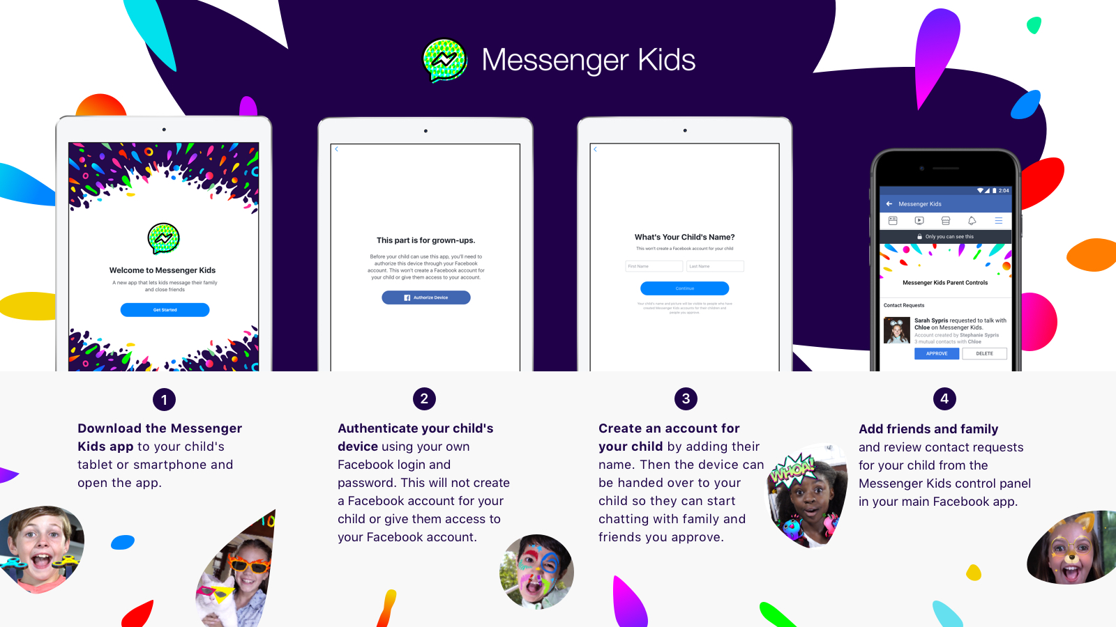Facebook Launches Messenger Kids With Strict Parental Controls For Children Under 13