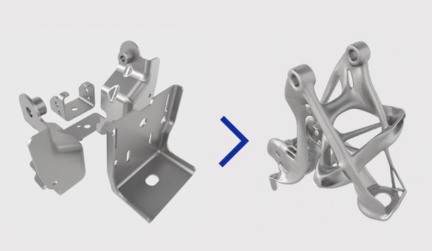 カタチも魅力的!? GMが最新ソフトウェアを駆使しパーツの軽量化や強度の向上を図る
