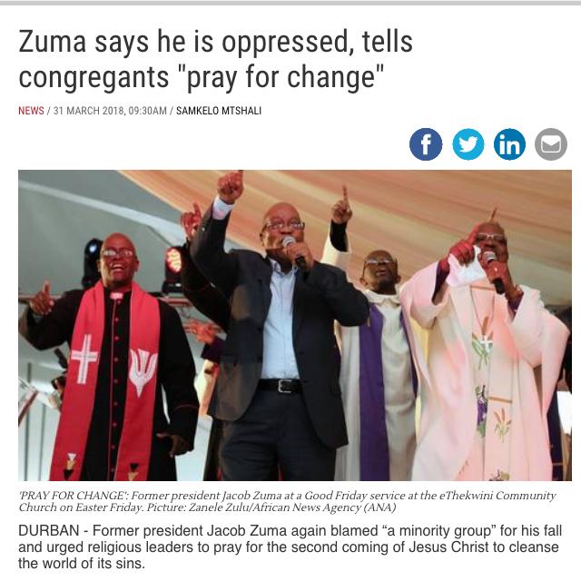 Jacob Zuma Just Won't Go