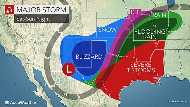 Accuweather Severe Weather Map.Post Christmas Storm To Slam Central Us With Flooding Severe