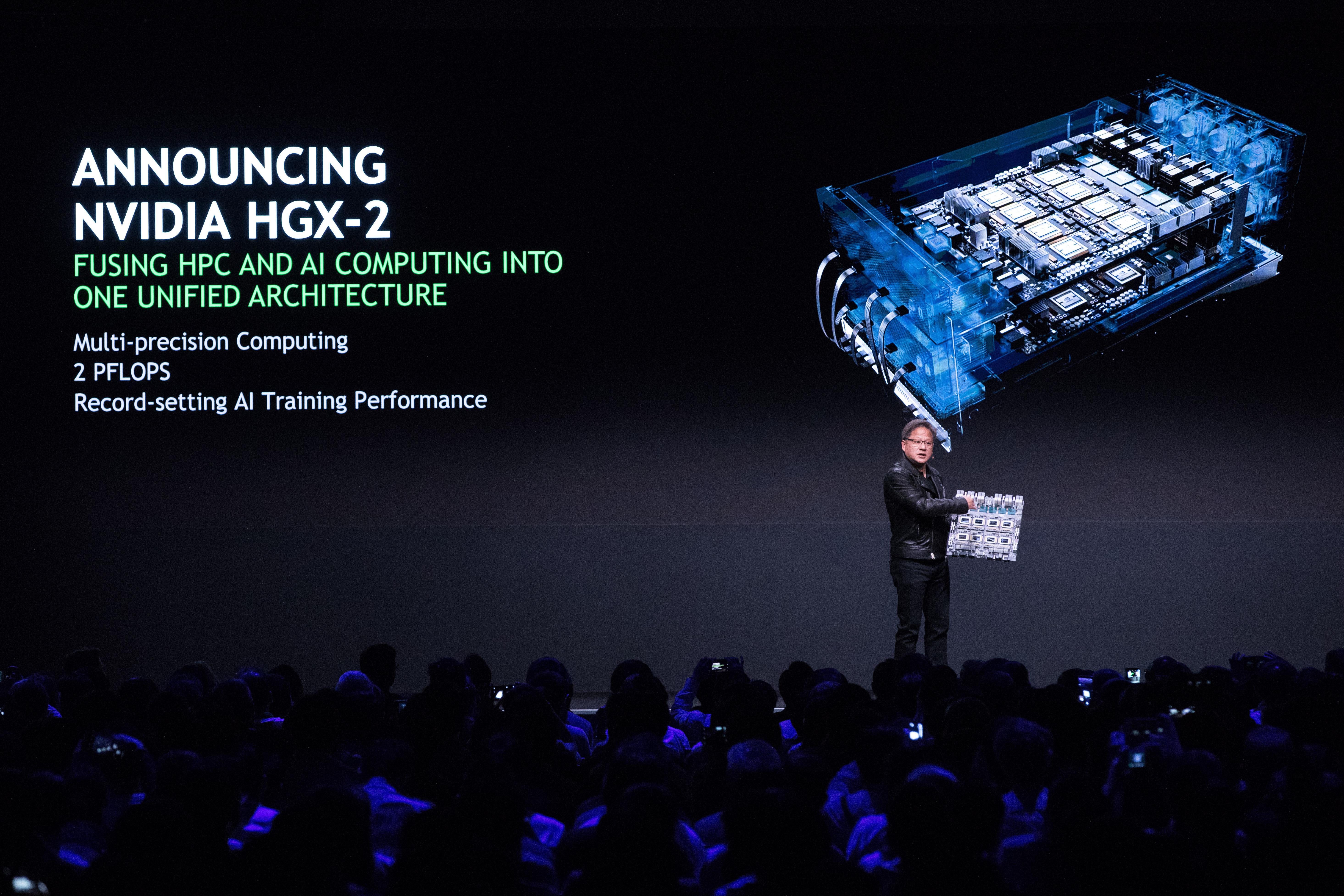 NVIDIA 为 AI 应用推出 HGX-2 云端服务器平台