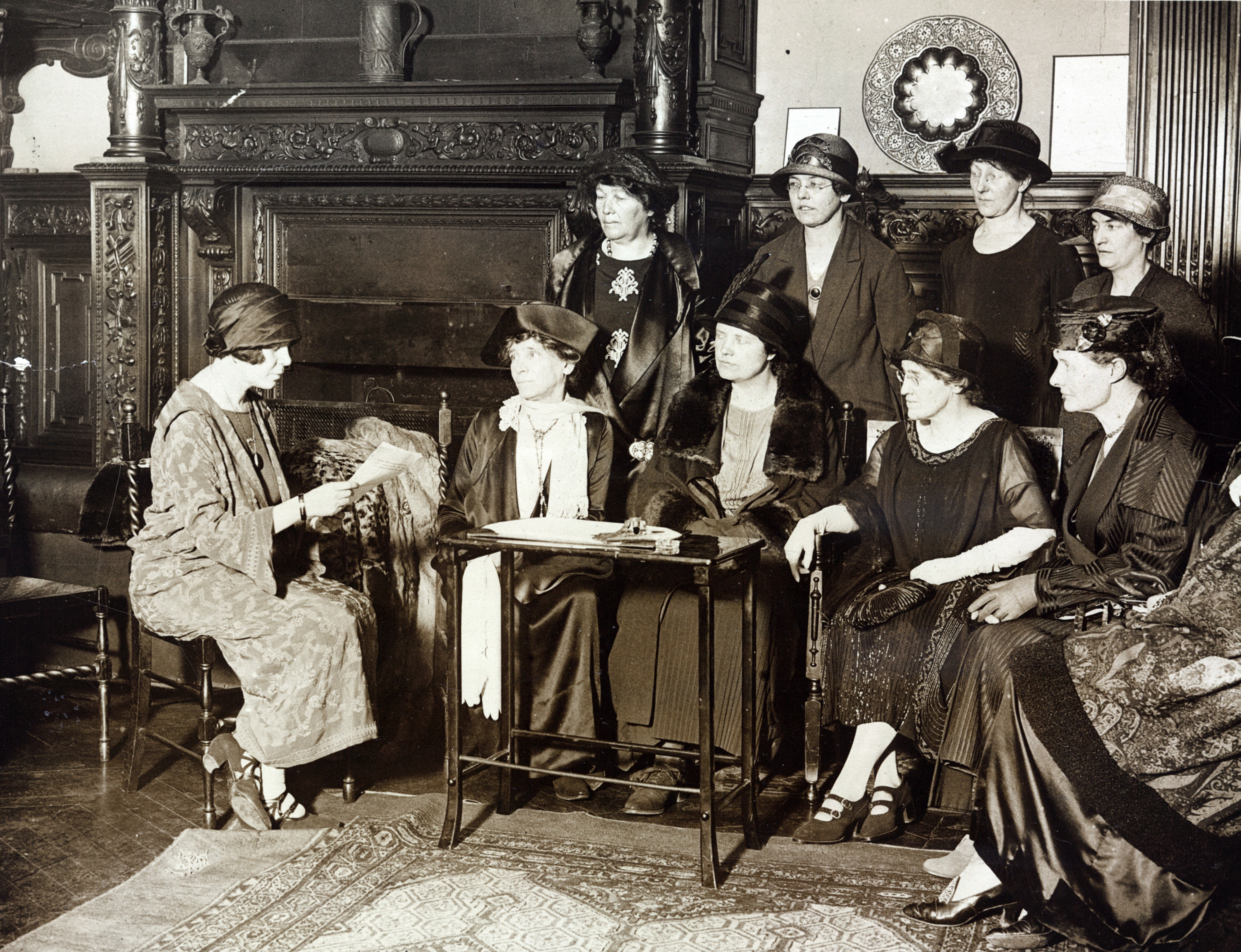Alice Paul with English members of the International Advisory Committee of National Woman's Party