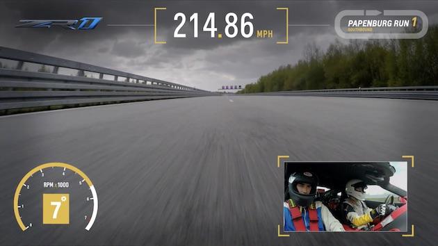 【車載カメラ映像】シボレーの新型「コルベットZR1」がテストコースで最高速度記録にチャレンジ!
