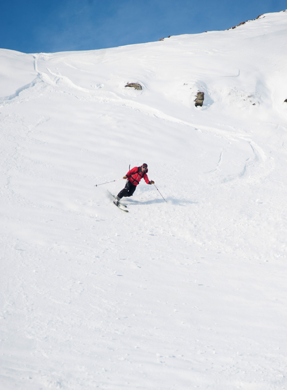 Mandatory Credit: Photo by Alex Messenger/Solent News/REX (4418730h) Skier on Mam Tor Skiers on a snow covered Mam Tor in the Peak District, Derbyshire, Britain - 04 Feb 2015 *Full story: http://www.rexfeatures.com/nanolink/pwnm  These experienced skiers look like they are carving down a mountain in the French Alps - when in fact they are just 20 miles from Sheffield. The adventurous trio travelled to Mam Tor, a 1,695ft hill in the heart of the Peak District, after the country was covered in snow yesterday. When they arrived they were delighted to find the steep hill completely white and coated in fresh powdered snow. The rare moment, which happens 'once every 20 years' because of the wind direction, was caught on camera in the -5 degree Celsius conditions. Photographer Alex Messenger, from Manchester, captured the unique moment when he travelled to the picturesque spot with two ski-ing friends. He described the hill as being like a 'little corner of the Alps', when in reality they were just 30 miles from their home in Manchester.