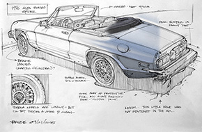 Bruce Thomson Car Sketches