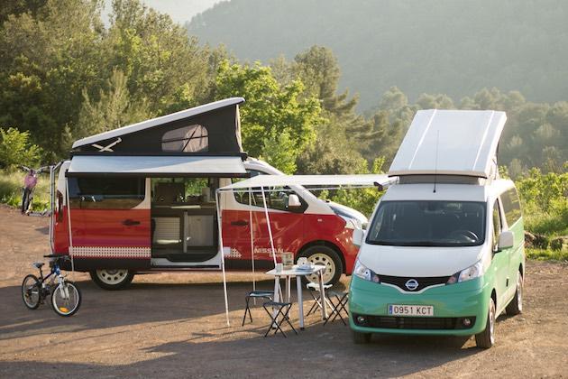 日産、「NV300」と「e-NV200」をベースにしたクールなキャンパー・バンをスペインで発表!
