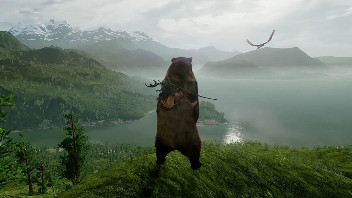 befriend a bear or get killed by it in ps4 exclusive wild