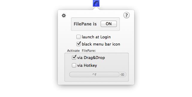 FilePane Menu Bar