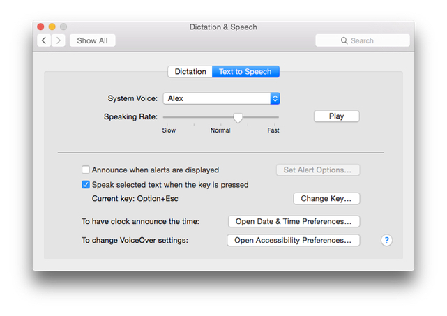 OS X Text to Speech