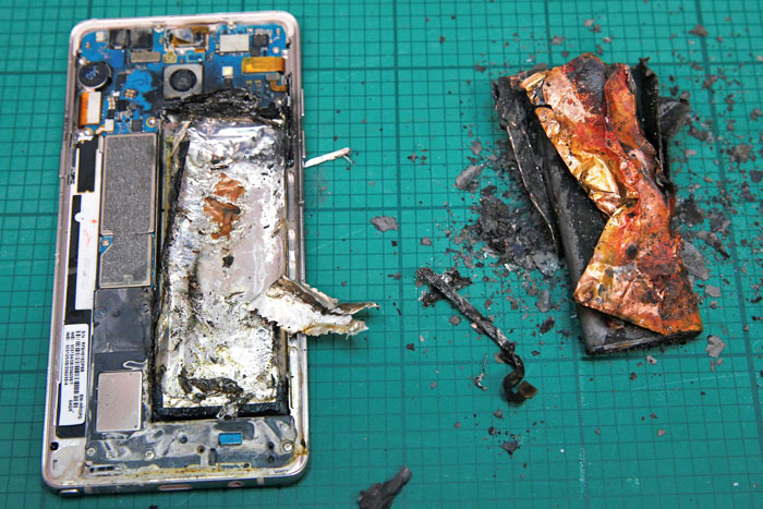 A visual history of gadgets that have burst into flames