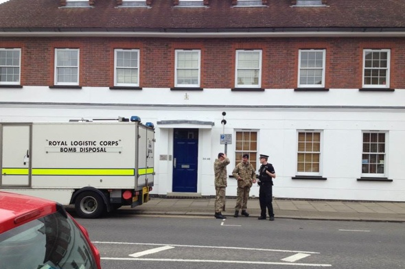 chertsey-museum-evacuated-bomb-squad-ww2-live-shell