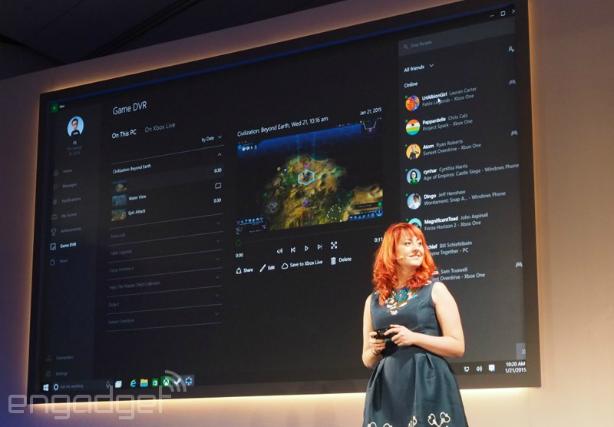Xbox apps, DVR, cross-platform streaming heads to Windows 10