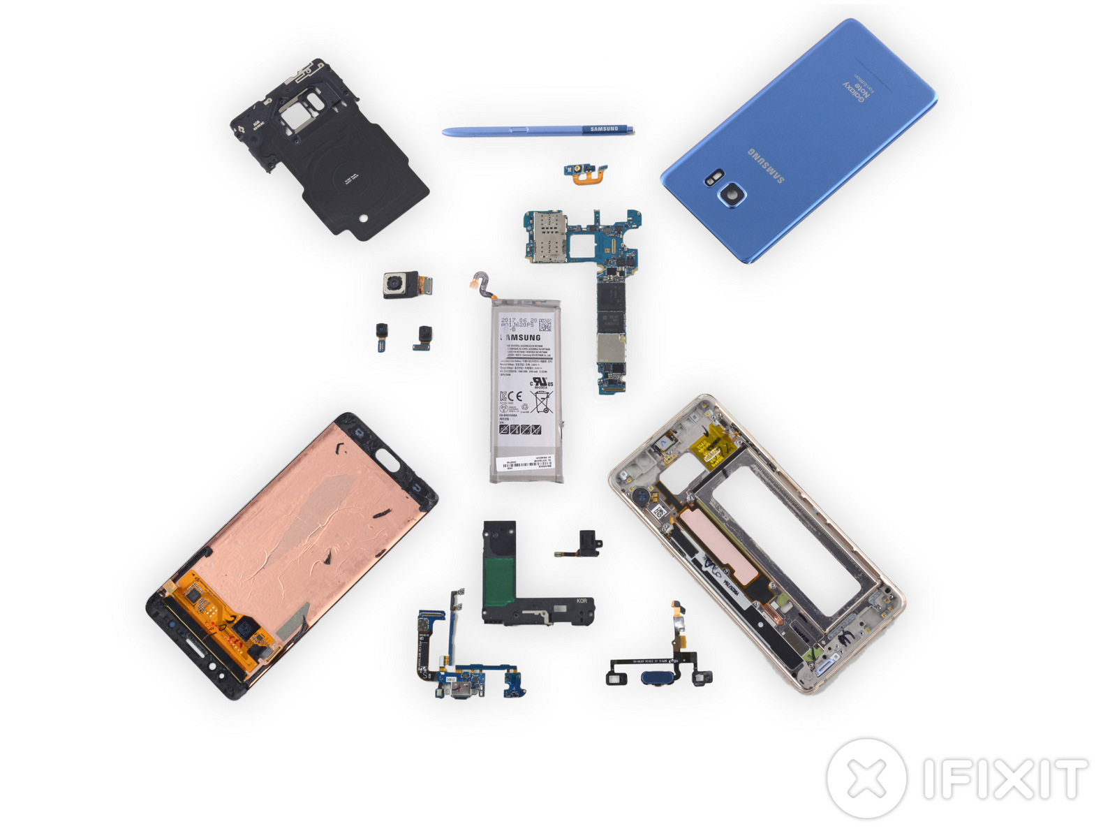 iFixit 拆開 Galaxy Note Fan Edition 來看看變小的電池