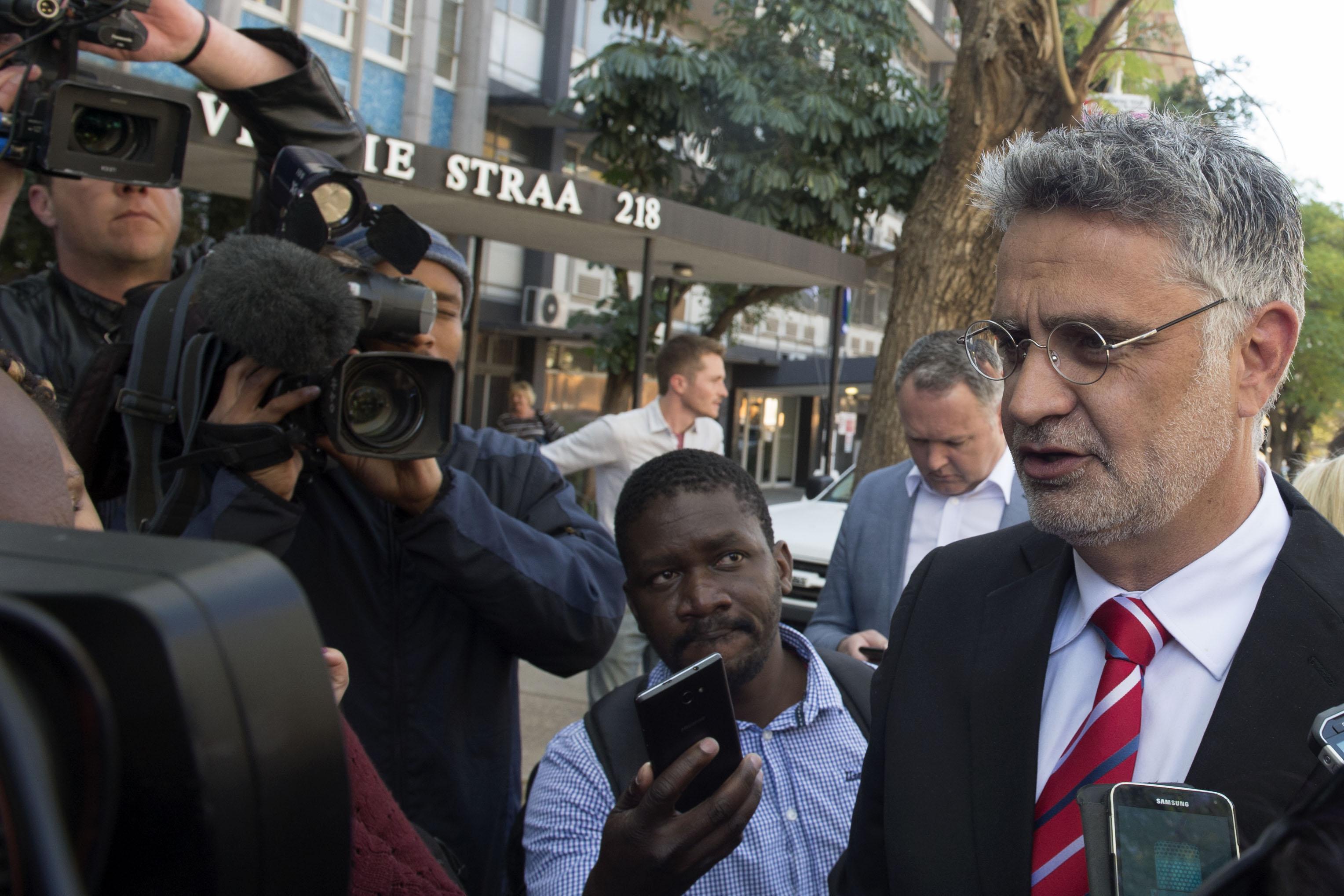 PRETORIA, SOUTH AFRICA � AUGUST 25: Former SARS Group Executive Johan van Loggerenbergoutside the Hawks...