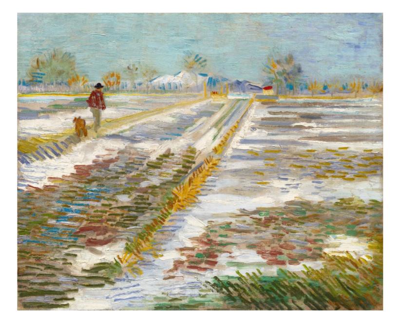 Paisaje con Nieve (van Gogh,