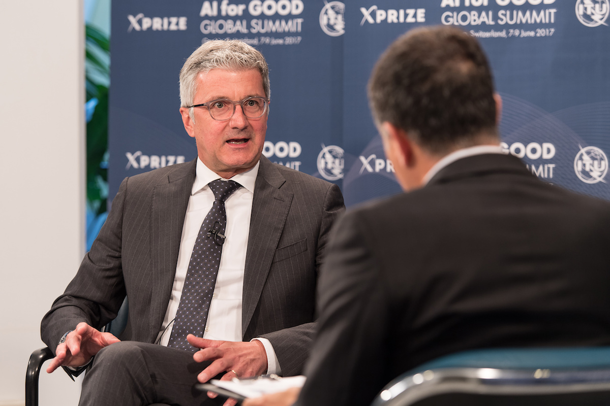 Audi CEO Prof. Rupert Stadler has spoken at the congress of the United Nations about the use of artificial intelligence for the benefit of humankind. In the picture: Prof. Rupert Stadler, Chairman of the Board of Management of AUDI AG.