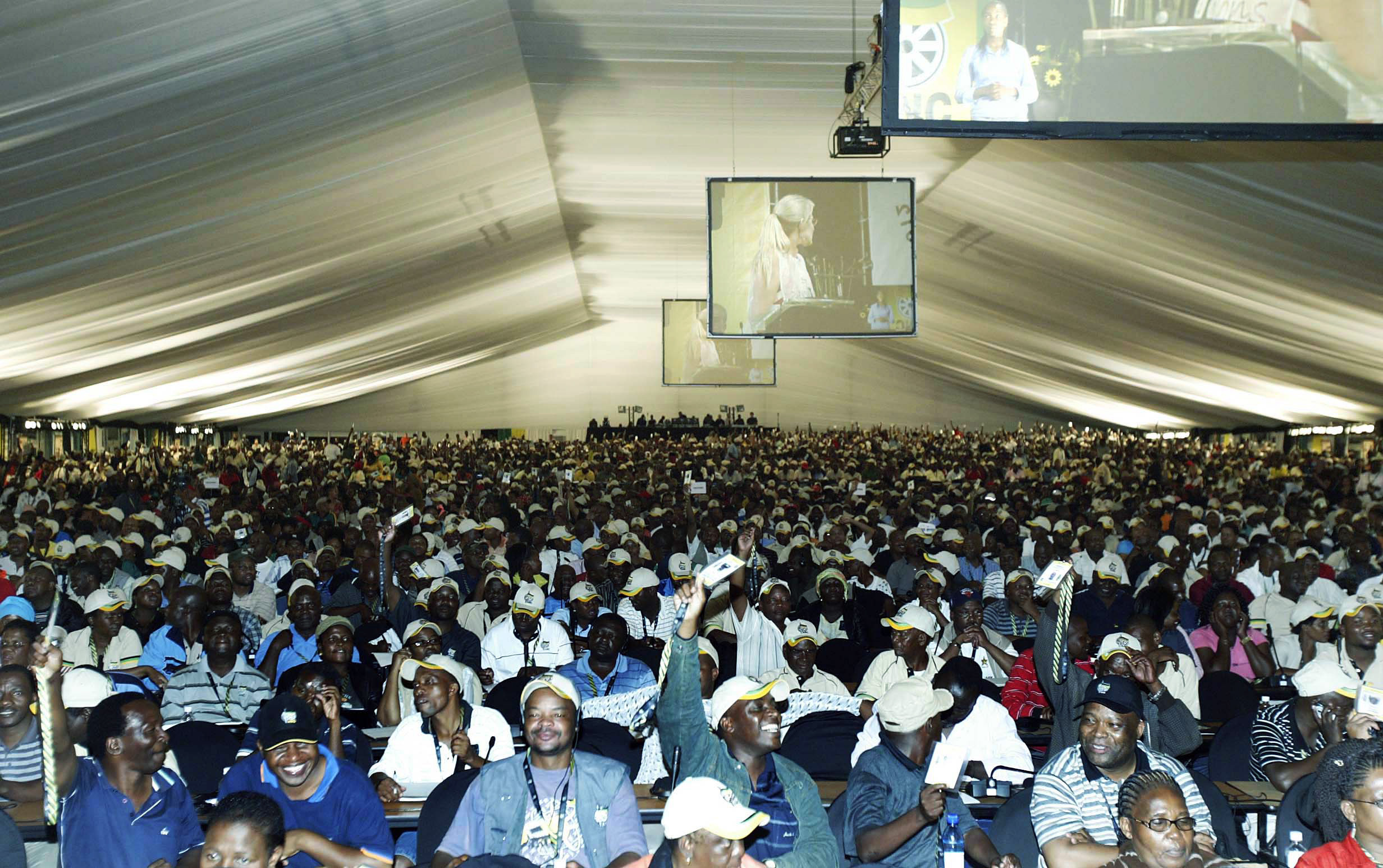 The marquee tent that served as the plenary hall during the ANC's national conference at Polokwane in...
