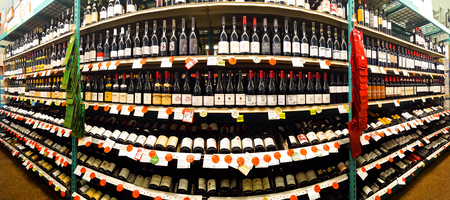 73738251 - red wine aisle in a bottle king store. bottle king is the largest new jersey retailer of wine,...