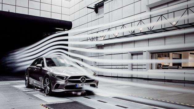 新型メルセデス・ベンツ「Aクラス セダン」のCd値は、現行量産車で最も優れた0.22に!