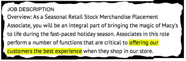 job descriptions decoded macy s seasonal employee aol finance