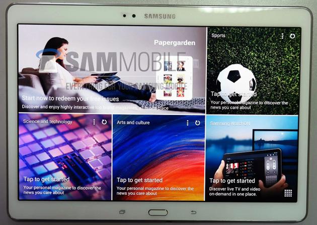 傳聞 Samsung 將推出的 Galaxy Tab S 像一部放大版 Galaxy S5