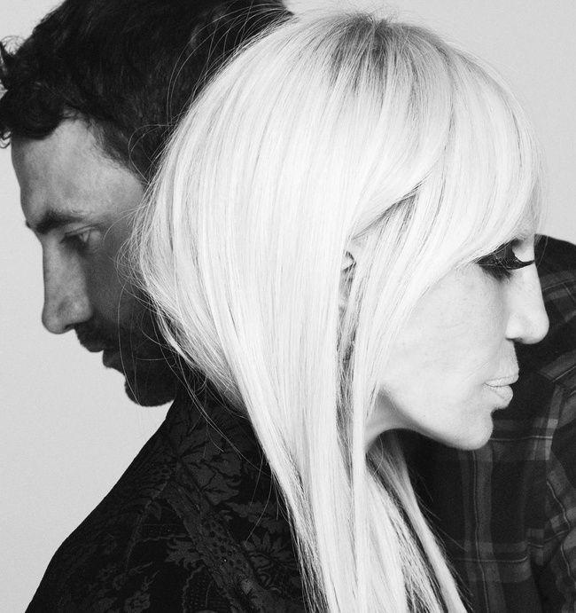 Riccardo Tisci invited friend and fellow designer, Donatella Versace to pose in a fall 2015 ad campaign.