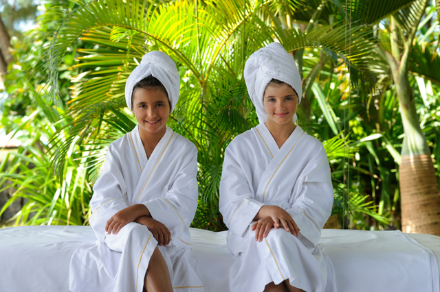 Children's spa treatments at The Residence Mauritius