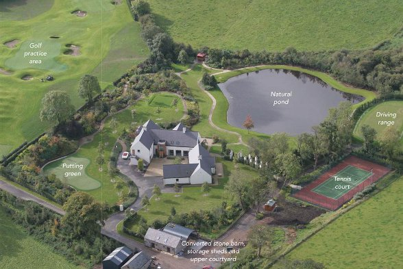 Aerial view of the McIlvoy house