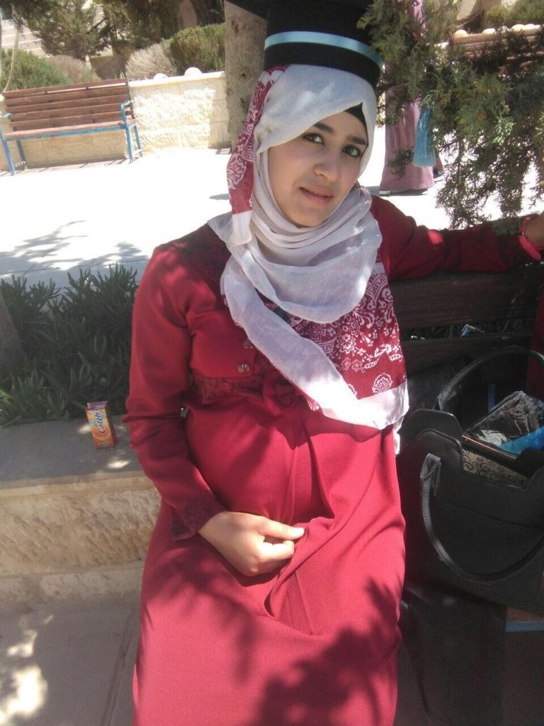 Hanadi has graduated from Zarqa University. She is also married and expecting her first