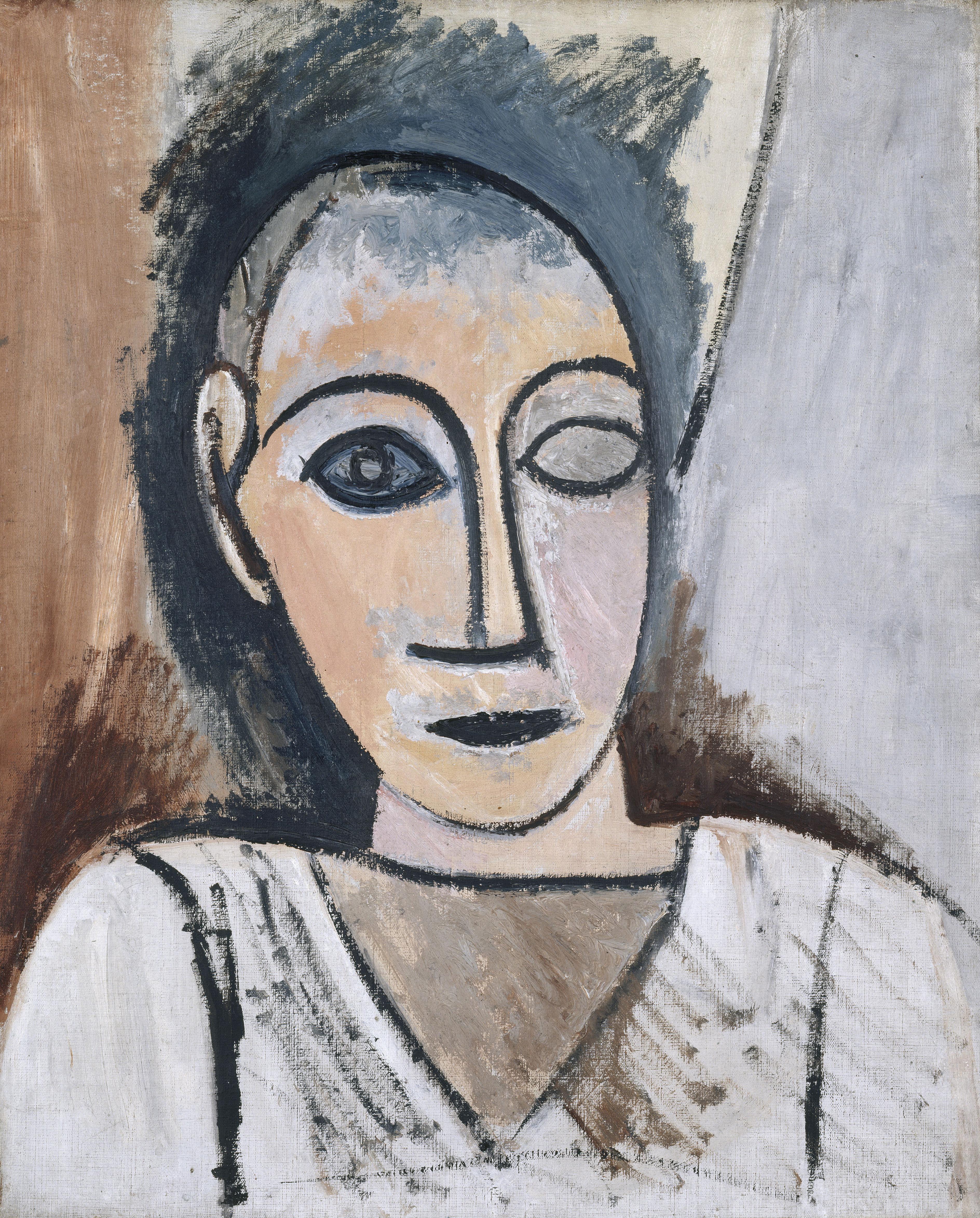 """Buste d'homme (Ãtude pour """"Les demoiselles d'Avignon"""") Picasso Pablo (dit), Ruiz Picasso Pablo..."""