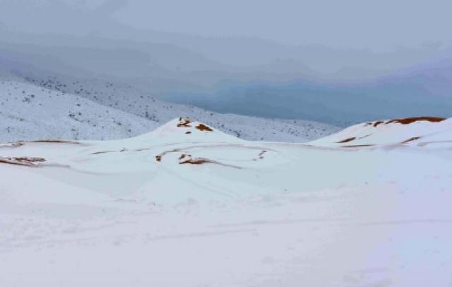 Sahara biggest snowfall in living memory