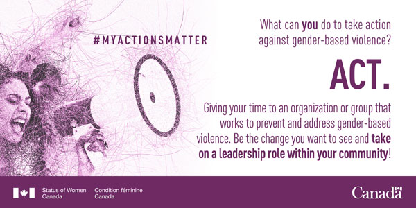 An infobite from the Government of Canada regarding the 16 Days of Activism Against Gender-Based