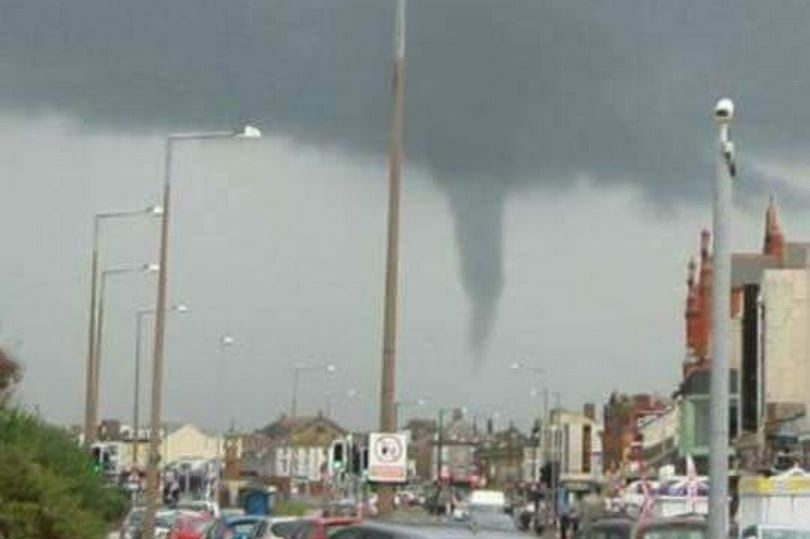 Freak tornado spotted in Lancashire