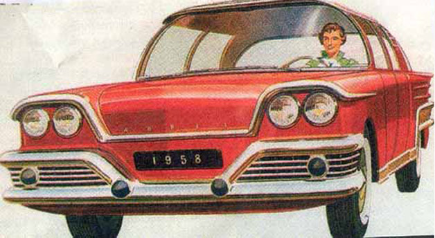 Nuclear-powered concept cars from the Atomic Age