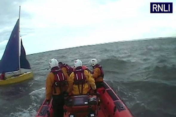RNLI rescues man in dinghy trying to sail from Dorset to America