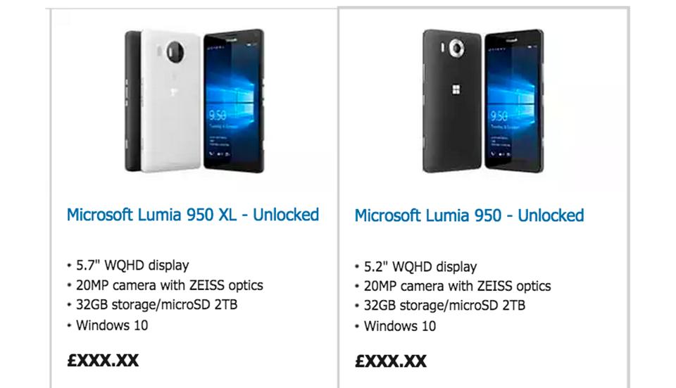 微软预载 Windows 10 的旗舰手机现身官网