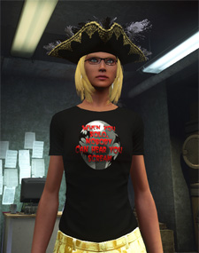 The limited-edition halloween shirt in TSW