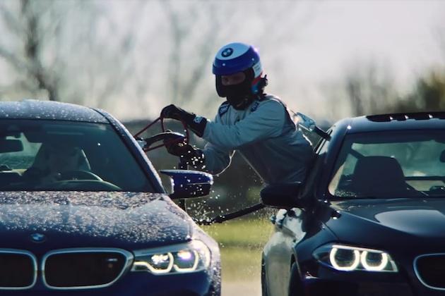【ビデオ】停まらず給油しながら、BMW「M5」がドリフトの世界記録を奪還!
