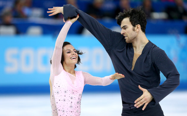 SOCHI, RUSSIA - FEBRUARY 11: Meagan Duhamel and Eric Radford of Canada compete during the Figure Skating...