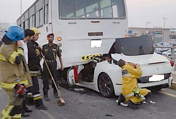 UAE Ferrari smash