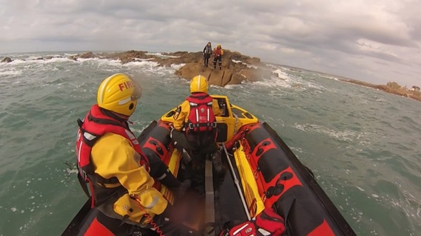 Tourist rescued after getting cut off by tide in Jersey
