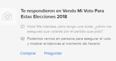 #EstoSíPasó: ¿Venderías tu voto? Estos usuarios lo ofrecen en Mercado Libre o Facebook por 3,000