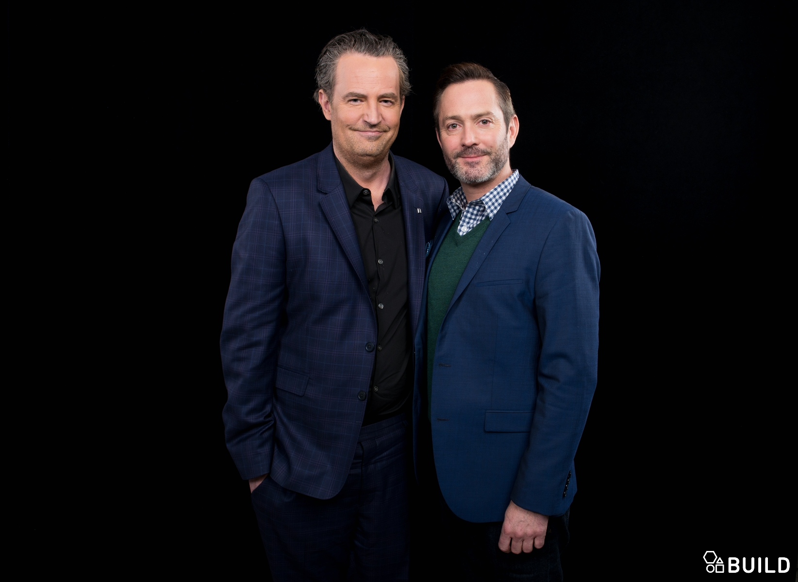 Matthew Perry and Thomas Lennon visit AOL Hq for Build on April 5, 2016 in New York. Photos by Noam Galai