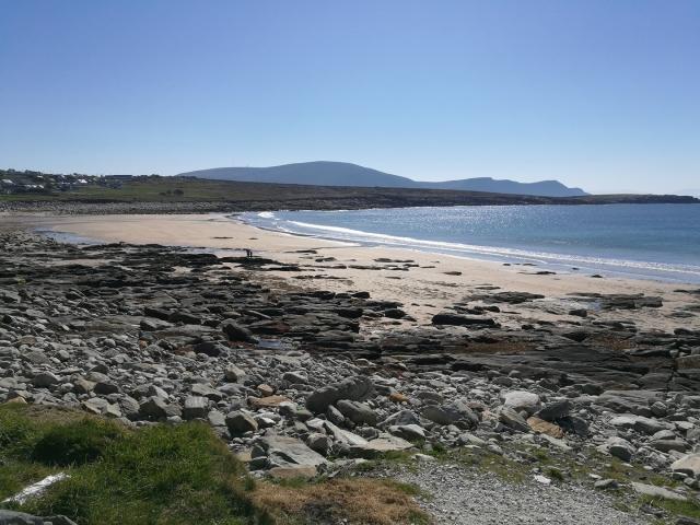 Achill Island beach reappears