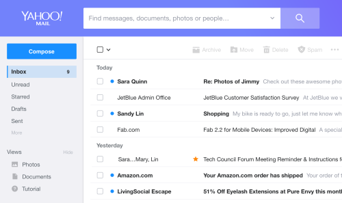 Yahoo Mail Accessibility Dashboard